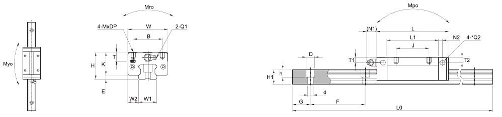 SBI CL CLL CLS – Technische Zeichnung