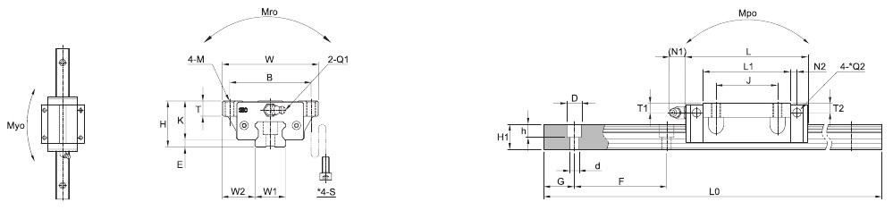 SBI FL FLL – Technische Zeichnung
