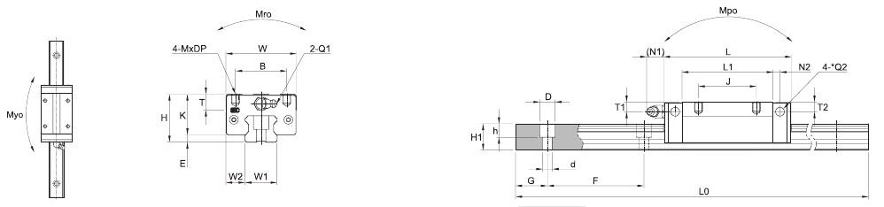 SBI HL HLL HLS – Technische Zeichnung